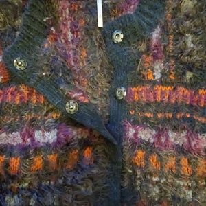 Free People Sweaters - Free People fuzzy snap-front fair isle cardigan